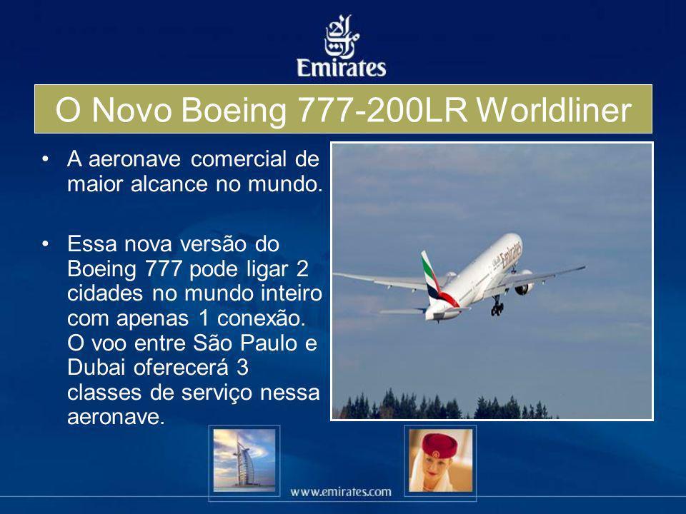 O Novo Boeing 777-200LR Worldliner A aeronave comercial de maior alcance no mundo. Essa nova versão do Boeing 777 pode ligar 2 cidades no mundo inteir