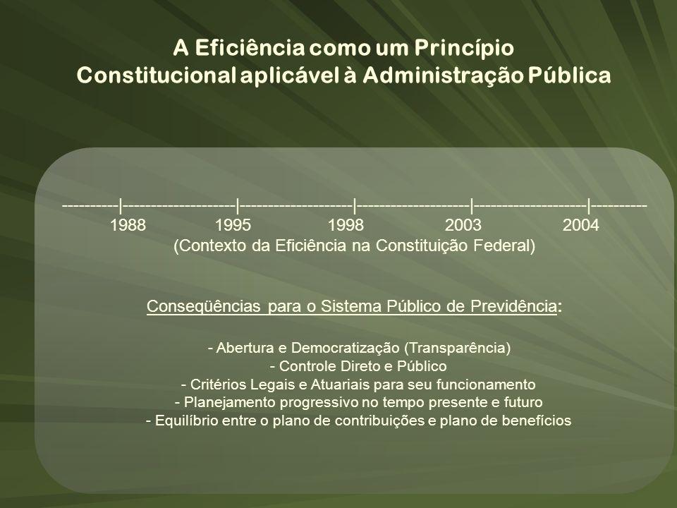 A Eficiência como um Princípio Constitucional aplicável à Administração Pública ----------|--------------------|--------------------|-----------------