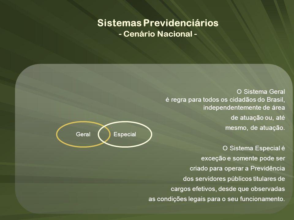 GeralEspecial O Sistema Geral é regra para todos os cidadãos do Brasil, independentemente de área de atuação ou, até mesmo, de atuação. O Sistema Espe