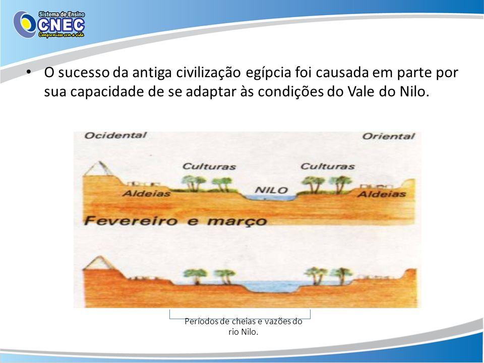 A inundação previsível e a irrigação controlada do vale fértil produziam colheitas excelentes, alimentando o desenvolvimento cultural.