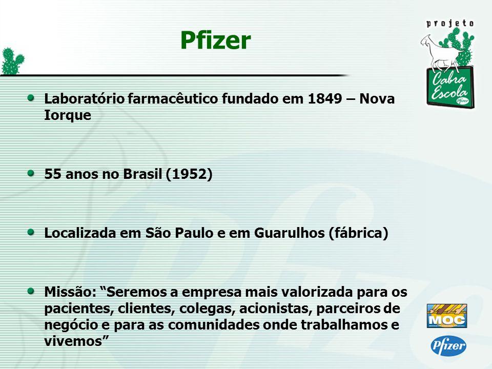 Laboratório farmacêutico fundado em 1849 – Nova Iorque 55 anos no Brasil (1952) Localizada em São Paulo e em Guarulhos (fábrica) Missão: Seremos a emp