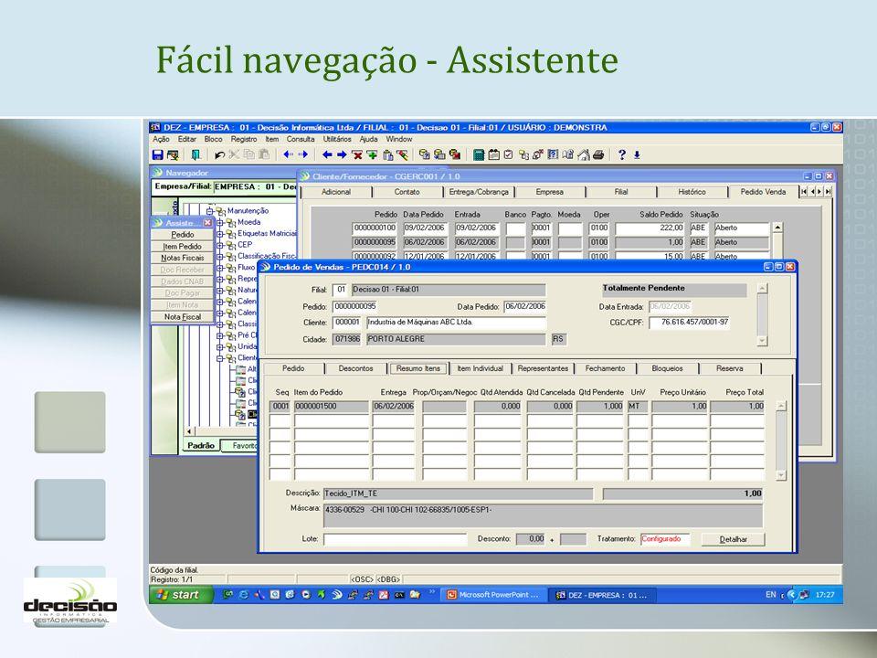 Fácil navegação - Assistente