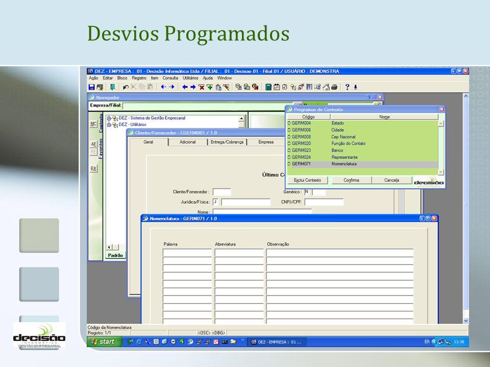 Desvios Programados