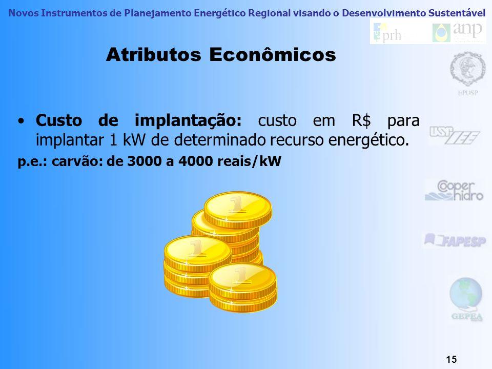 Novos Instrumentos de Planejamento Energético Regional visando o Desenvolvimento Sustentável Atributos Econômicos 14