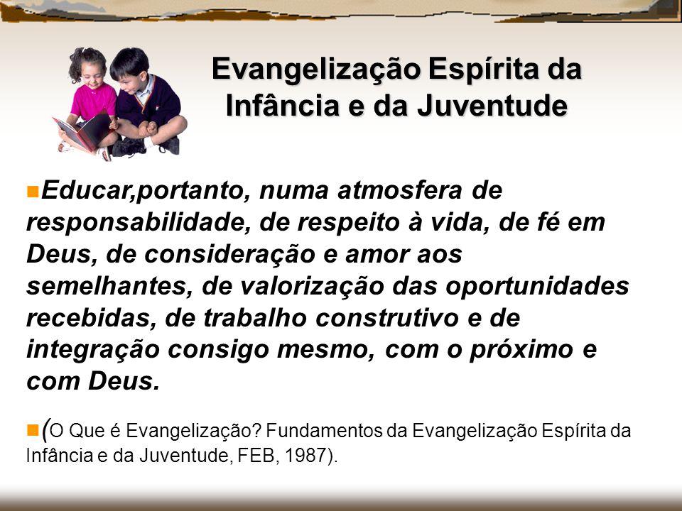 Educar,portanto, numa atmosfera de responsabilidade, de respeito à vida, de fé em Deus, de consideração e amor aos semelhantes, de valorização das opo