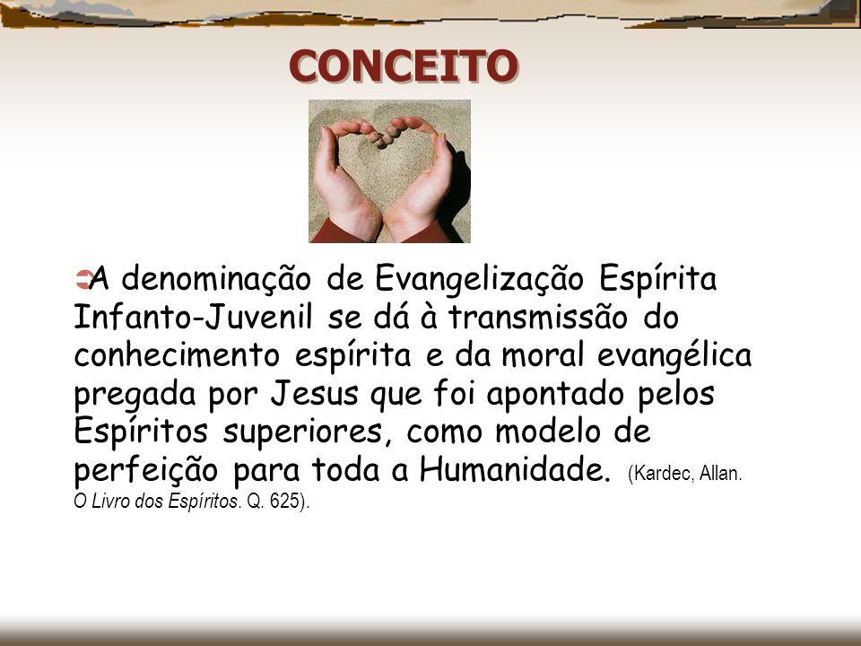 A denominação de Evangelização Espírita Infanto-Juvenil se dá à transmissão do conhecimento espírita e da moral evangélica pregada por Jesus que foi a