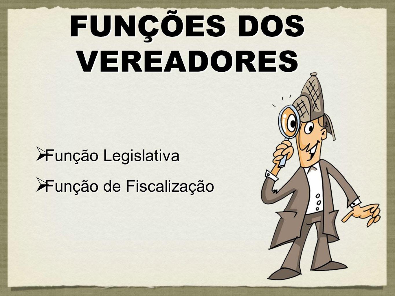 Função Legislativa Função Legislativa Função de Fiscalização Função de Fiscalização Função Legislativa Função Legislativa Função de Fiscalização Funçã