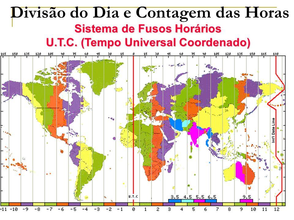 TIPOS DE HORAS Hora legal – tem por base o meridiano de Greenwich (12 para cada hemisfério).