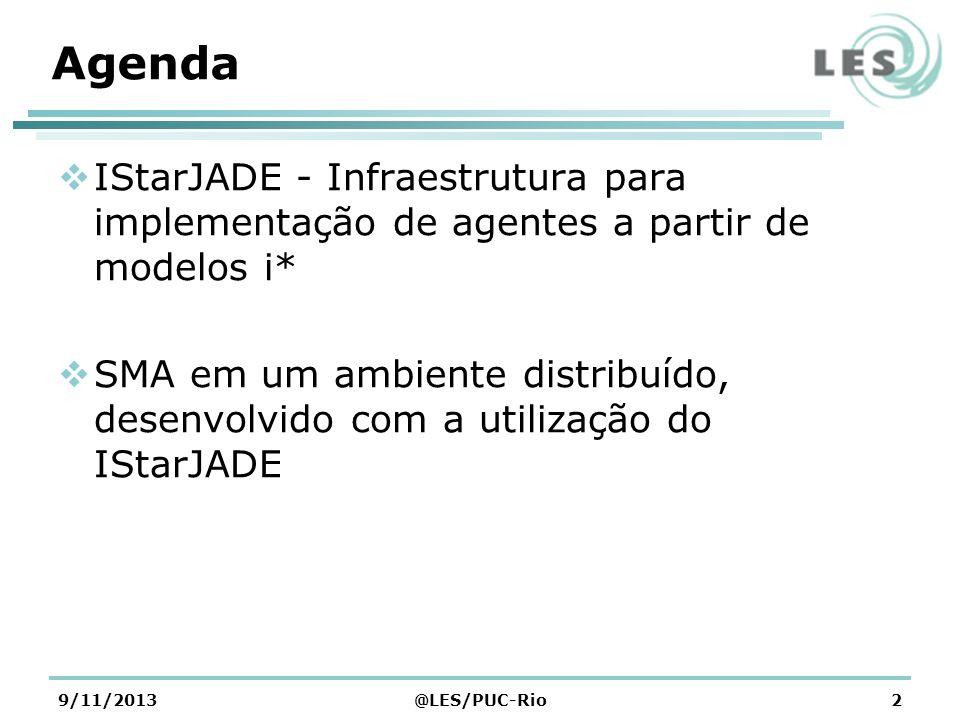 Agenda IStarJADE - Infraestrutura para implementação de agentes a partir de modelos i* SMA em um ambiente distribuído, desenvolvido com a utilização d