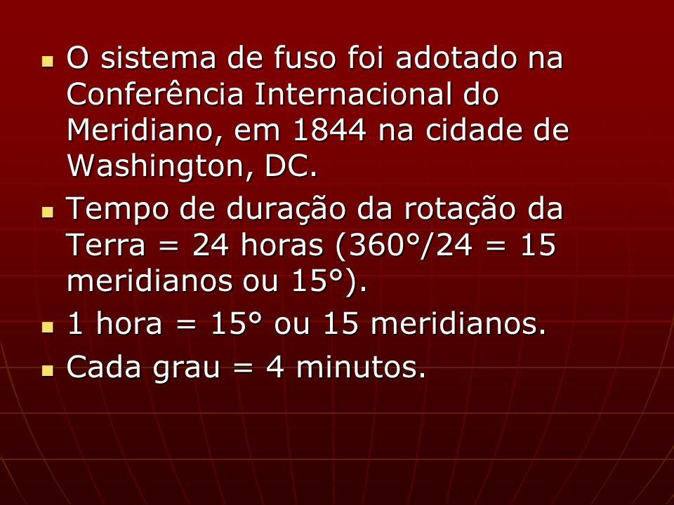 7° problema: Um avião sai de Manaus a 60°W às 12 horas com destino a Salvador, a 45°W.