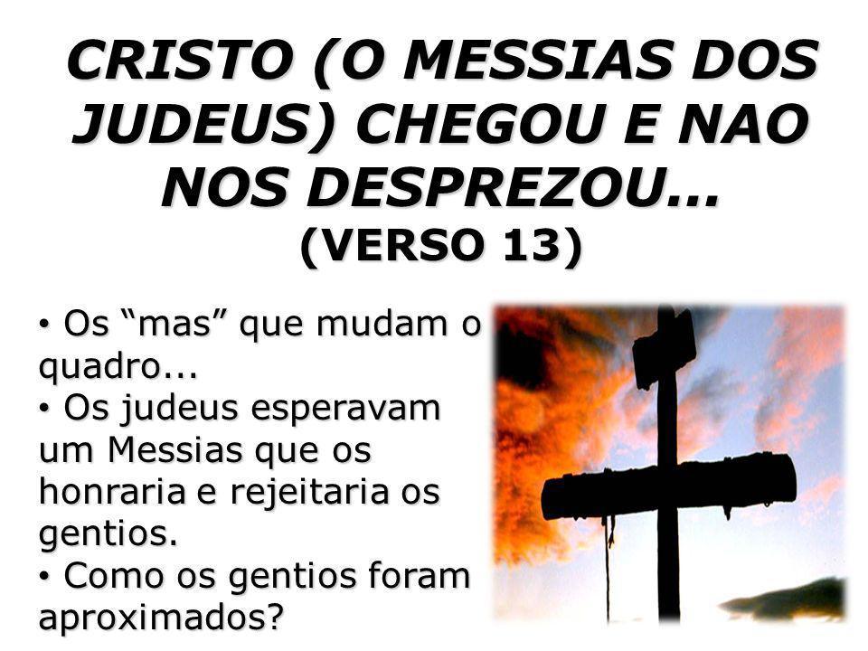 O QUE ELE FEZ POR NOS (GENTIOS).(VERSO 14) Cristo a nossa paz.