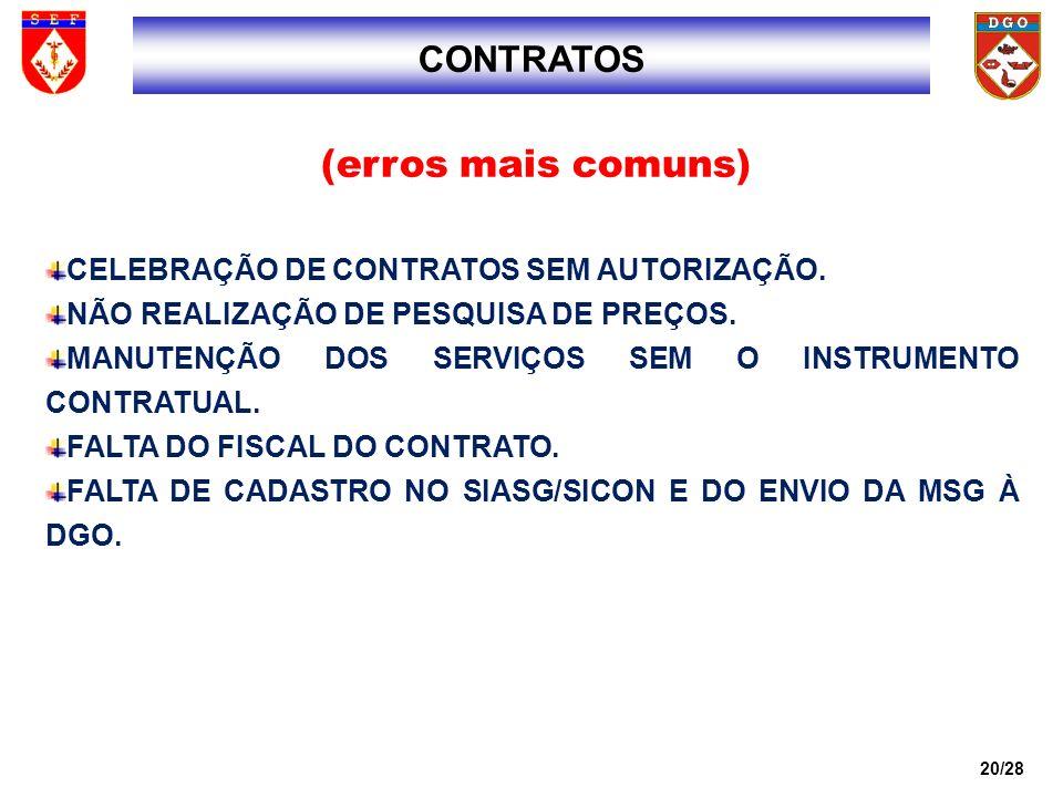 21/28 REAJUSTE DO CONTRATO ACIMA DO LIMITE AUTORIZADO OU SEM PRÉVIA CONSULTA.