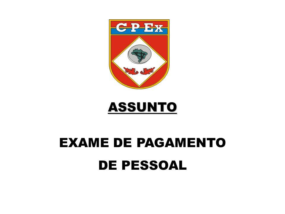 ASSUNTO ASSUNTO EXAME DE PAGAMENTO DE PESSOAL