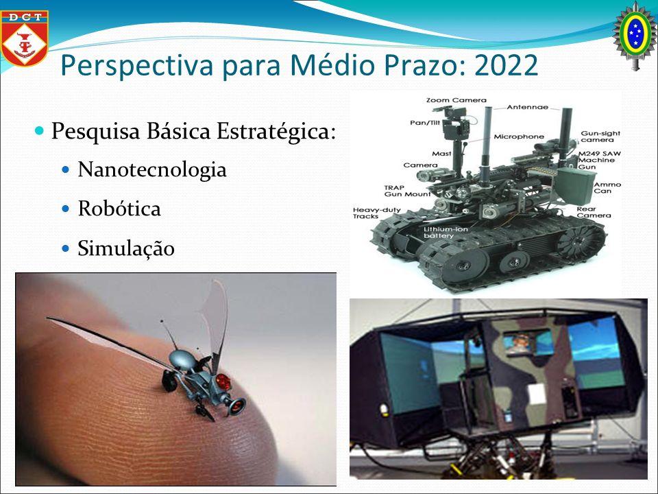 Perspectiva para Médio Prazo: 2022 Pesquisa Básica Estratégica: Nanotecnologia Robótica Simulação