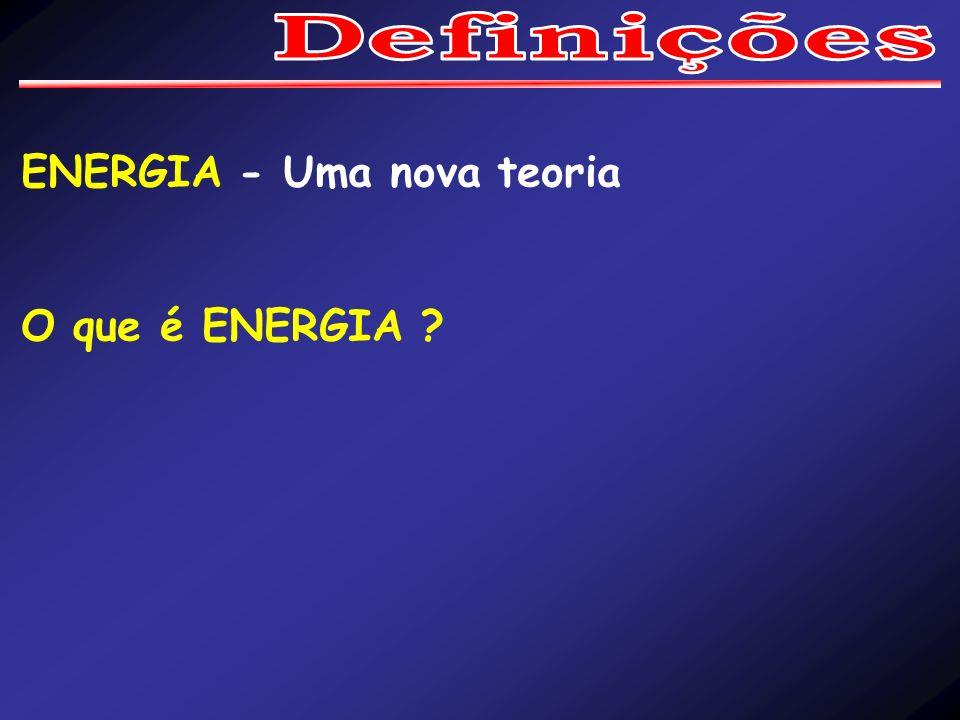 ENERGIA - Uma nova teoria O que é ENERGIA ?