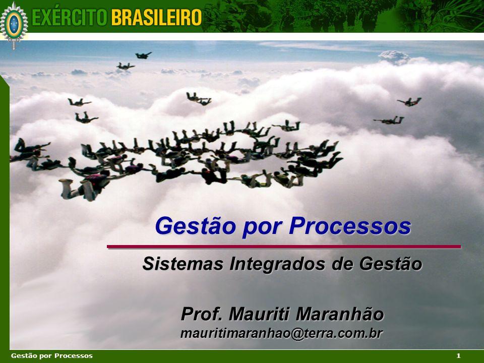 Gestão por Processos Sistemas Integrados de Gestão Prof. Mauriti Maranhão mauritimaranhao@terra.com.br Prof. Mauriti Maranhão mauritimaranhao@terra.co