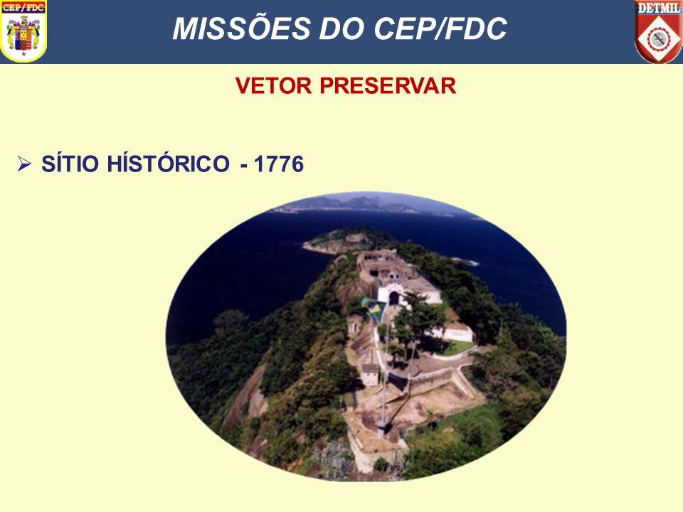 MISSÕES DO CEP/FDC VETOR PRESERVAR SÍTIO HÍSTÓRICO - 1776
