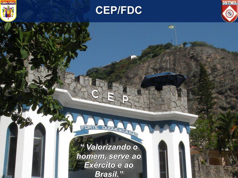 CEP/FDC Valorizando o homem, serve ao Exército e ao Brasil. Valorizando o homem, serve ao Exército e ao Brasil.