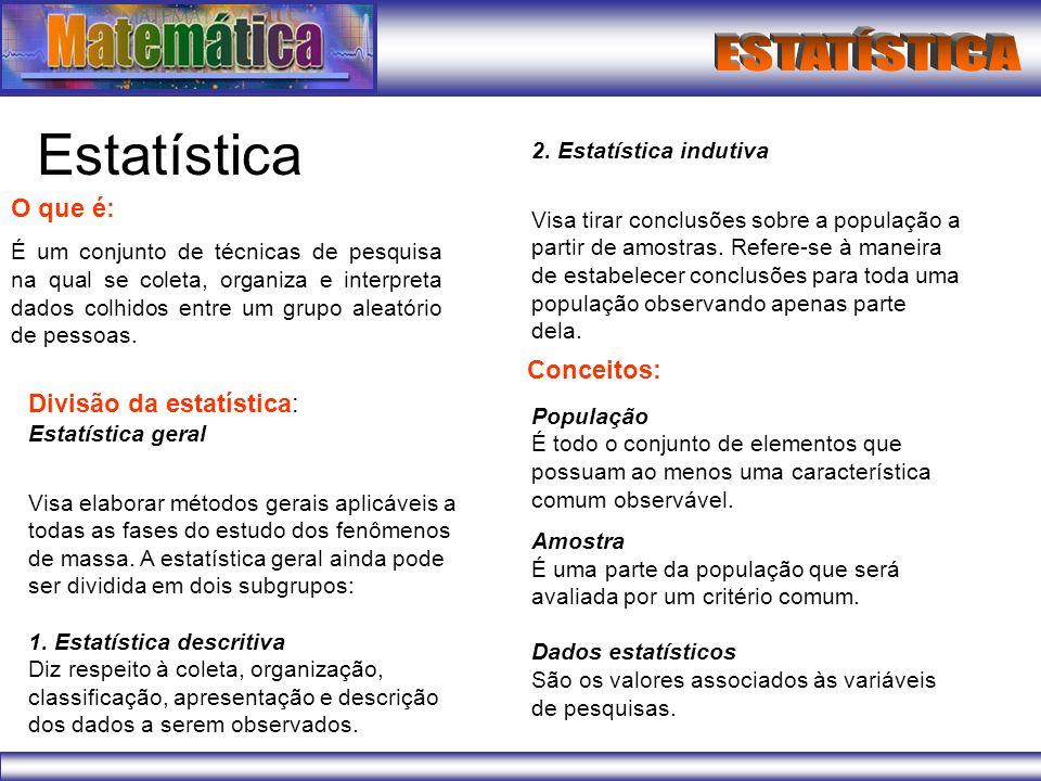 Formas de organizar dados estatísticos Tabela Gráfico