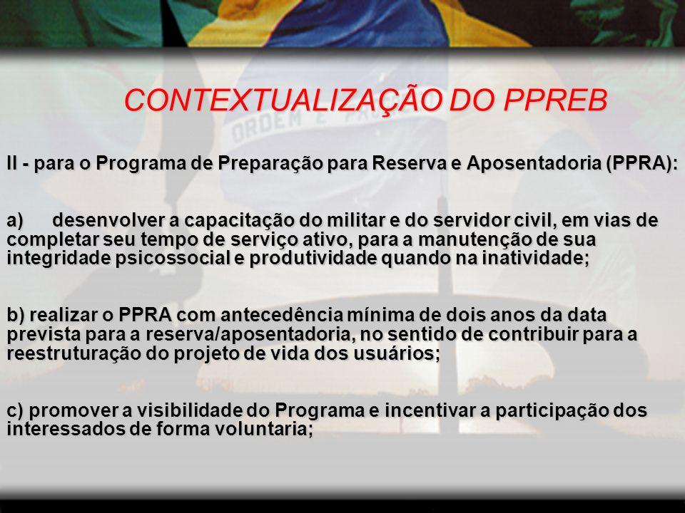 CONTEXTUALIZAÇÃO DO PROGRAMA A Preparação PSICOLÓGICA A Preparação PSICOLÓGICA deve focar: c.
