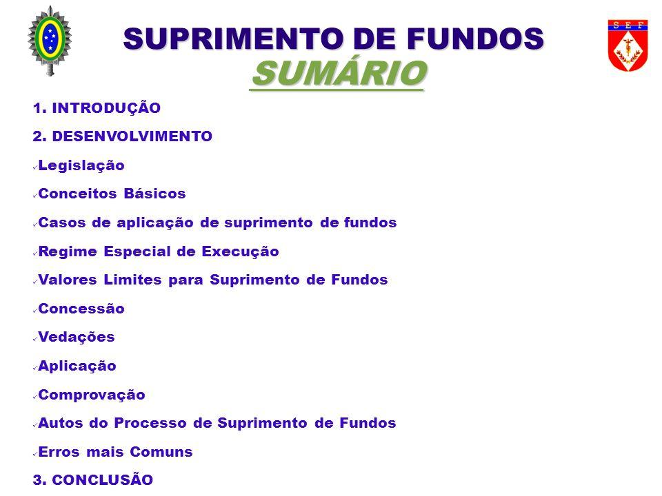 SUPRIMENTO DE FUNDOS COMPROVAÇÃO - Situação Hipotética (pagamento de faturas) Suponha um Sup Fundos (CPGF): (Obs.: considere o mês de 30 dias) - Início do Sup fundos/Assinatura do Ato de Concessão (AC): dia 6 do mês m1; - Prazo de aplicação – 90 d; - Prestação de Contas – 30 d; - Considerando compras feitas sempre nos dias 6 e 21 de cada mês; - O pagamento da fatura (pf) será até dia 10, mas fecha-se sempre no dia 30 de cada mês; - A linha do tempo abaixo ilustra esta situação: m1 m2 m3 m4 m5 ____|_6_pf_____21__|_6_pf______21__|_6_pf______21__|_6_pf__________|_6_pf______ |AC || | Aplicação 90 d PC 30 d