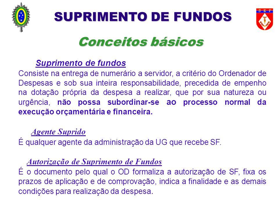 O Ordenador de Despesas (OD) poderá conceder SF para o pagamento de: a.