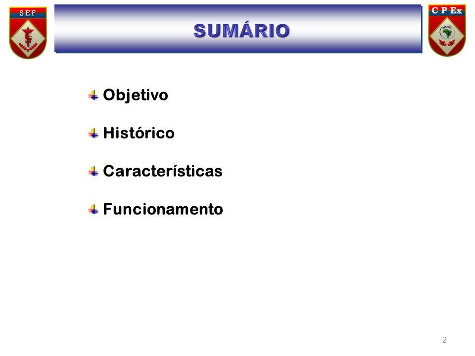 2 Objetivo Histórico Características Funcionamento SUMÁRIO