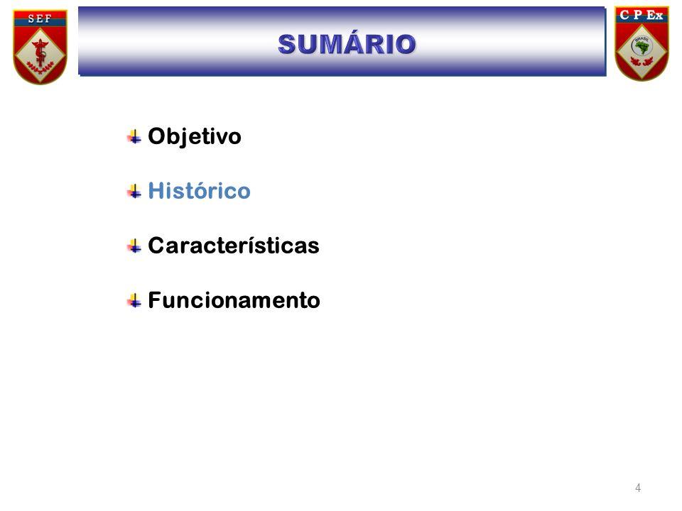 4 Objetivo Histórico Características Funcionamento SUMÁRIO