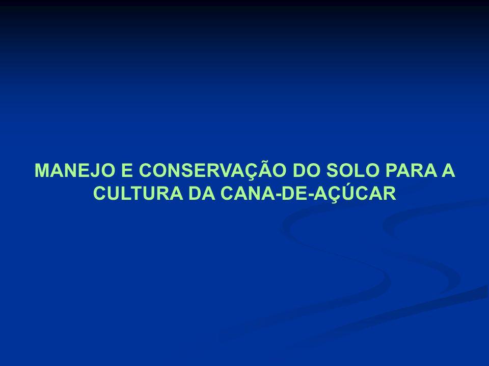 MANEJO E CONSERVAÇÃO DO SOLO PARA A CULTURA DA CANA-DE-AÇÚCAR