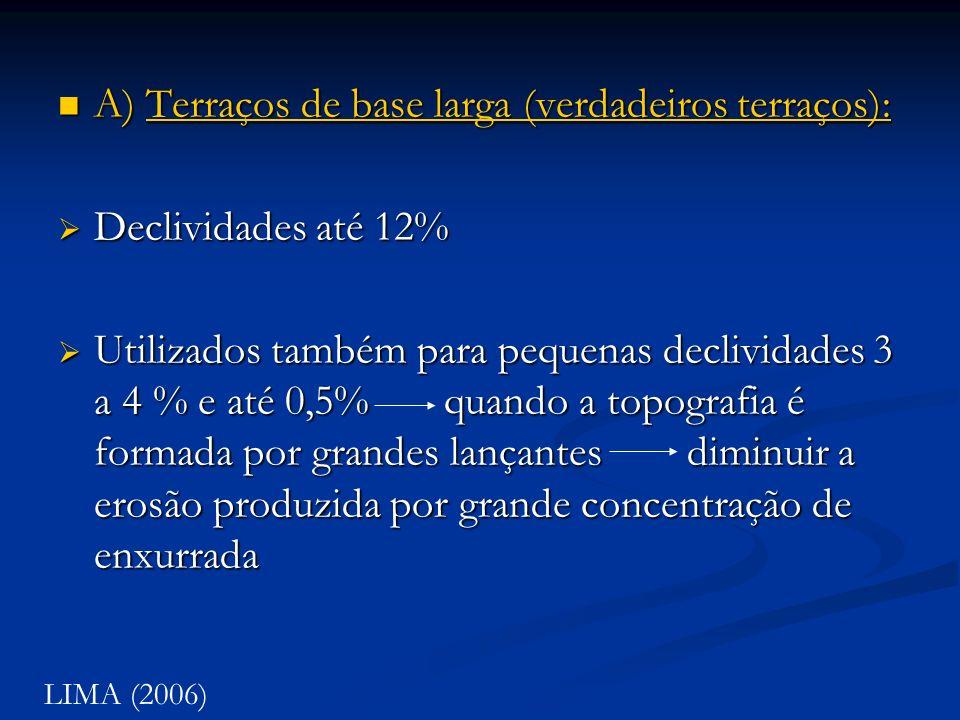 A) Terraços de base larga (verdadeiros terraços): A) Terraços de base larga (verdadeiros terraços):Terraços de base larga (verdadeiros terraços):Terra