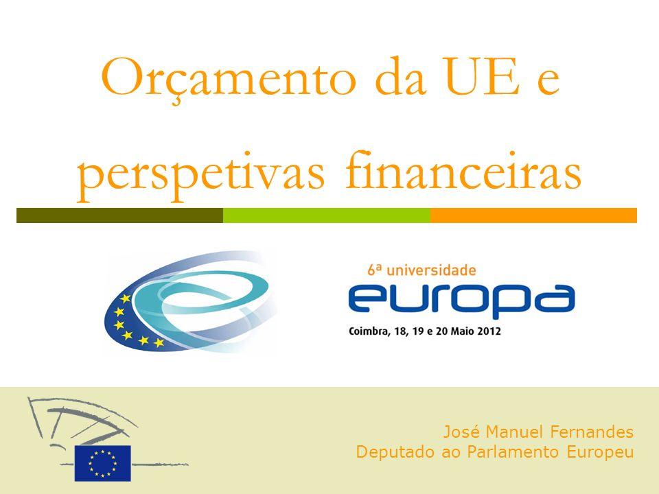 Orçamento da UE e perspetivas financeiras José Manuel Fernandes Deputado ao Parlamento Europeu