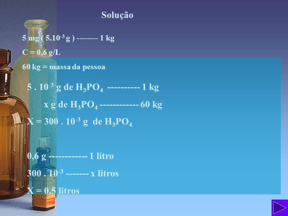 Solução H 2 SO 4 = 98 g/mol d solução = 1,064 g/ml m 1 = 25 g de H 2 SO 4 m 2 = 225 g de H 2 O m solução = m 1 + m 2 = 25 + 225 = 250 g de solução a) 25 g de H 2 SO 4 --------- 250 g de solução x g de H 2 SO 4 -------- 100 g de solução x = 10 g de H 2 SO 4 ou 10% em massa T = 0,1 b) C = 1000.