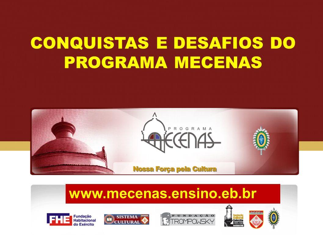 CONQUISTAS E DESAFIOS DO PROGRAMA MECENAS www.mecenas.ensino.eb.br