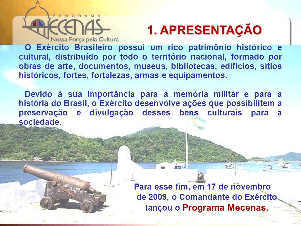 O Exército Brasileiro possui um rico patrimônio histórico e cultural, distribuído por todo o território nacional, formado por obras de arte, documento