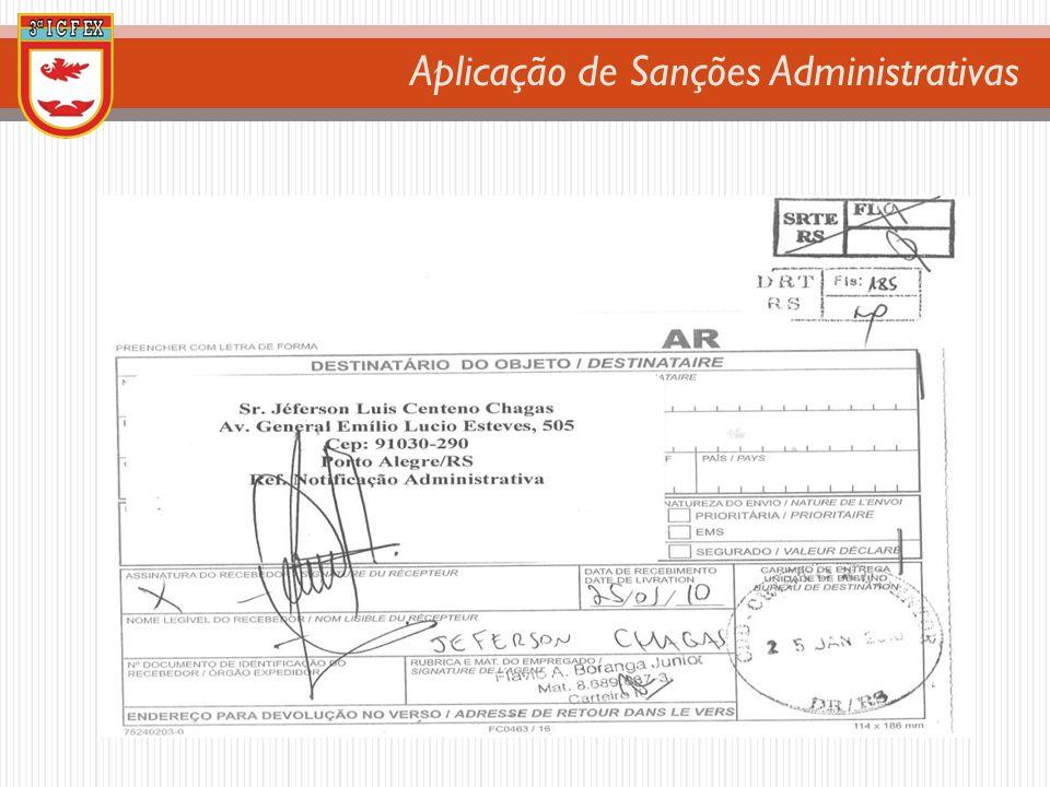 Aplicação de Sanções Administrativas