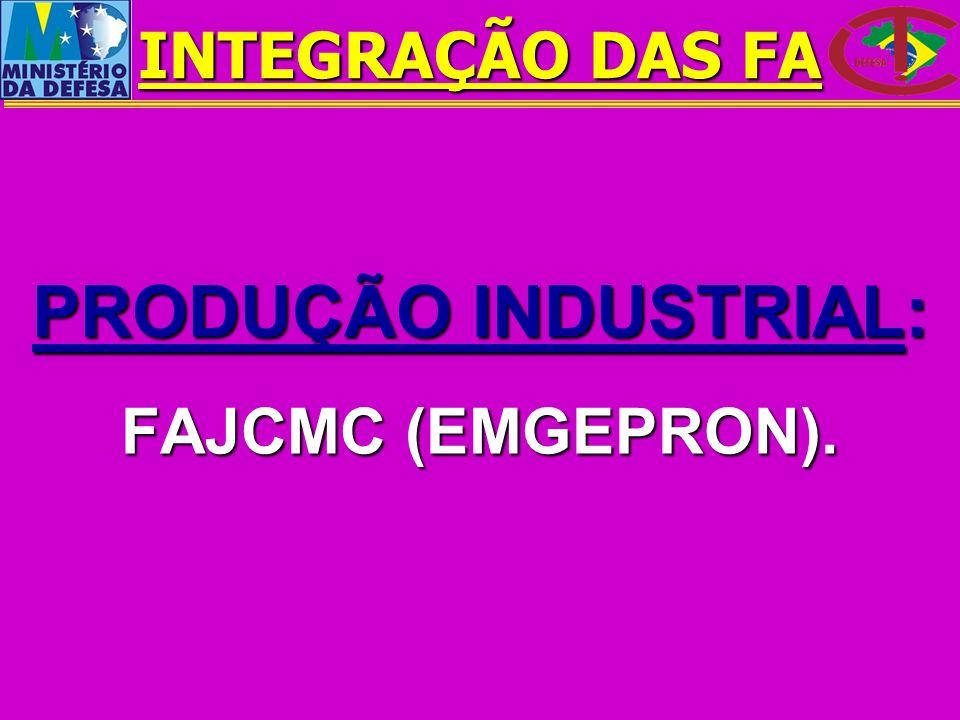 PRODUÇÃO INDUSTRIAL: FAJCMC (EMGEPRON). INTEGRAÇÃO DAS FA