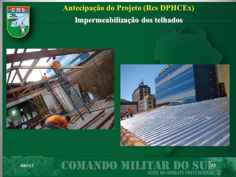 Abr 1232 Antecipação do Projeto (Rcs DPHCEx) Impermeabilização dos telhados
