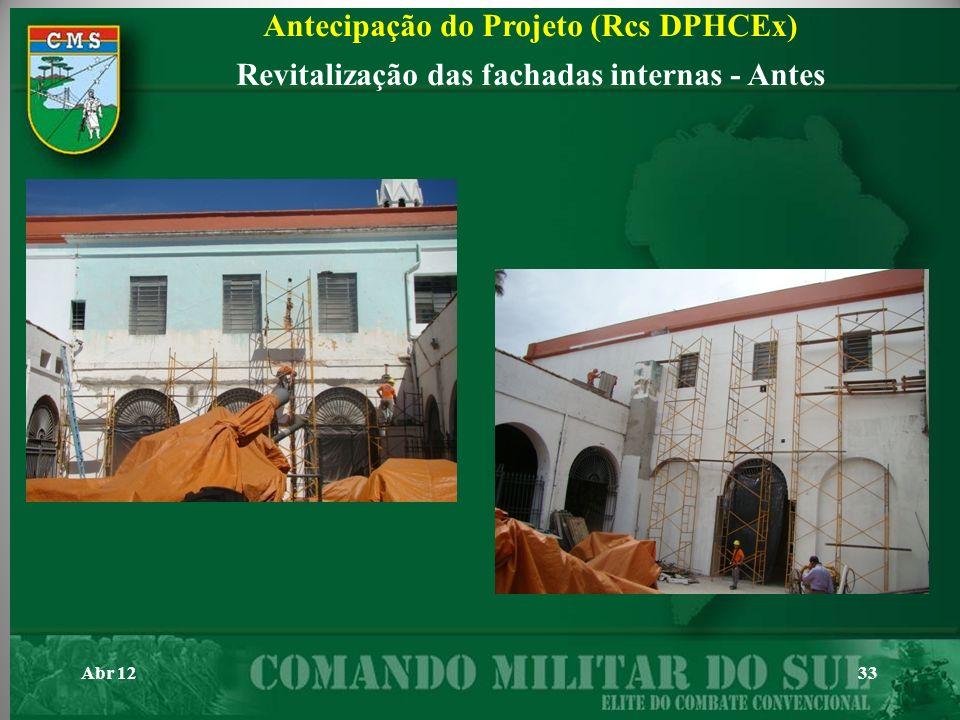 Abr 1233 Antecipação do Projeto (Rcs DPHCEx) Revitalização das fachadas internas - Antes