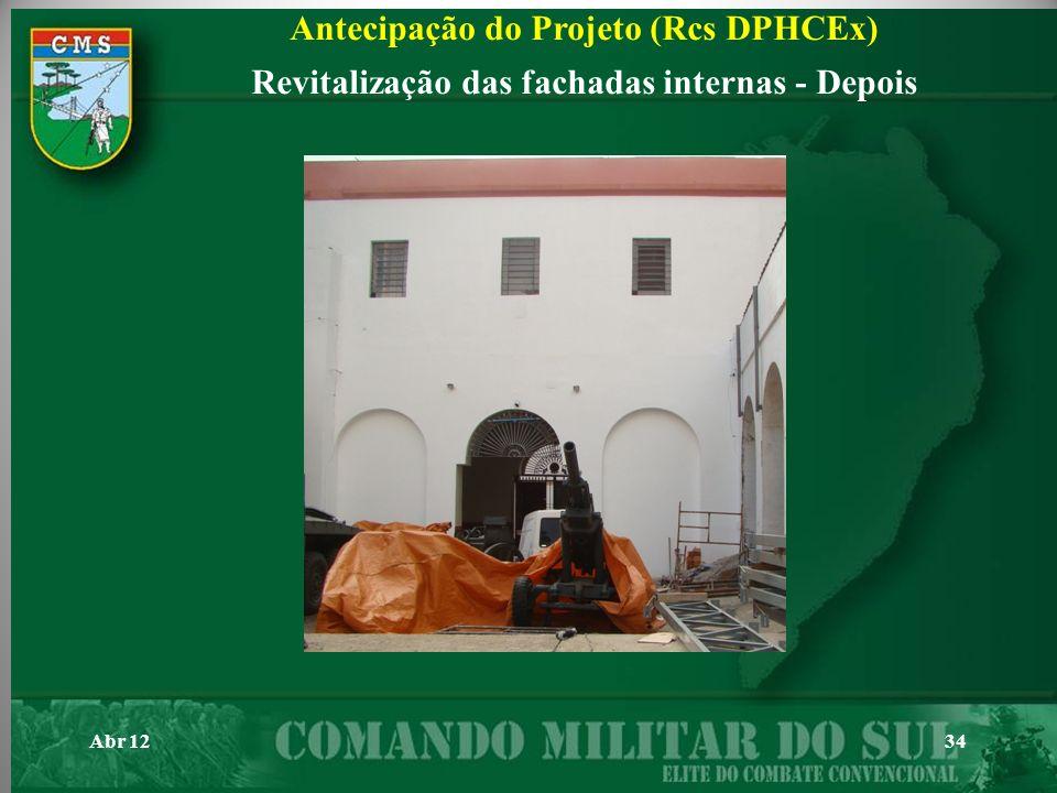 Abr 1234 Antecipação do Projeto (Rcs DPHCEx) Revitalização das fachadas internas - Depois