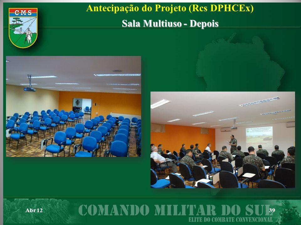 Abr 1239 Antecipação do Projeto (Rcs DPHCEx) Sala Multiuso - Depois
