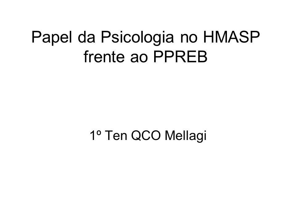 Papel da Psicologia no HMASP frente ao PPREB 1º Ten QCO Mellagi