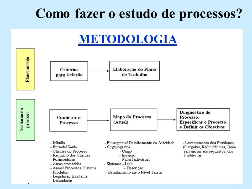 Como fazer o estudo de processos? METODOLOGIA