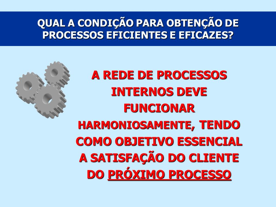 CATEGORIAS DE PROCESSOS Processos Finalísticos: Processo associado às atividades-fim da organização ou diretamente envolvido no atendimento às necessidades dos seus clientes\ usuários.