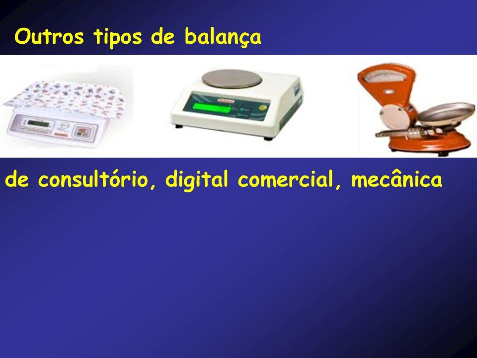 Outros tipos de balança de consultório, digital comercial, mecânica