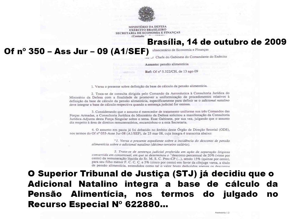 Of nº 350 – Ass Jur – 09 (A1/SEF) Brasília, 14 de outubro de 2009 O Superior Tribunal de Justiça (STJ) já decidiu que o Adicional Natalino integra a b