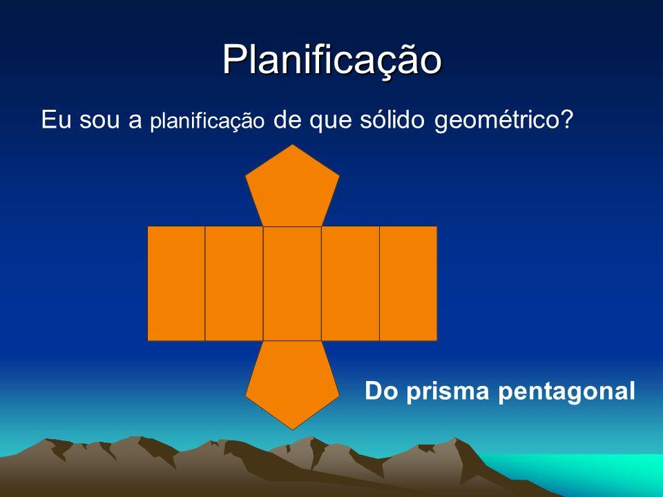 Planificação Eu sou a planificação de que sólido geométrico? Do prisma pentagonal