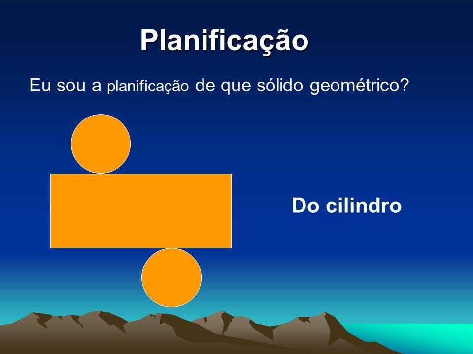 Planificação Eu sou a planificação de que sólido geométrico? Do cilindro