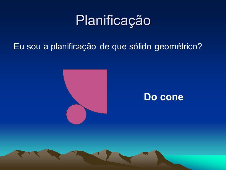 Planificação Eu sou a planificação de que sólido geométrico? Do cone