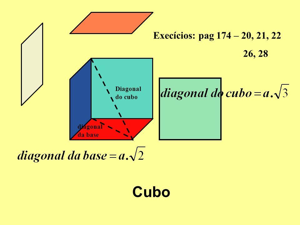 Área e Volume de um PRISMA Área da base + Área lateral = Área total Prisma hexagonal Área da base x Altura =Volume Execícios: pag 177 – R13, R14, 32, 33 pag 180 – R16 pag 181 – R 17 pag 182 – 38, 41, 43