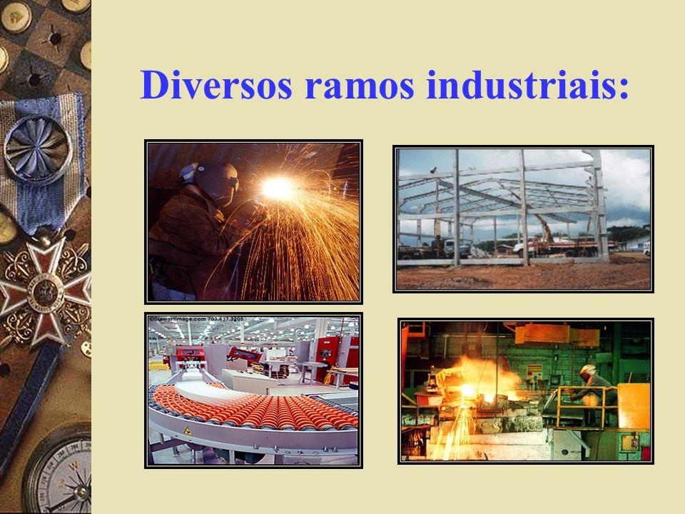 Diversos ramos industriais: